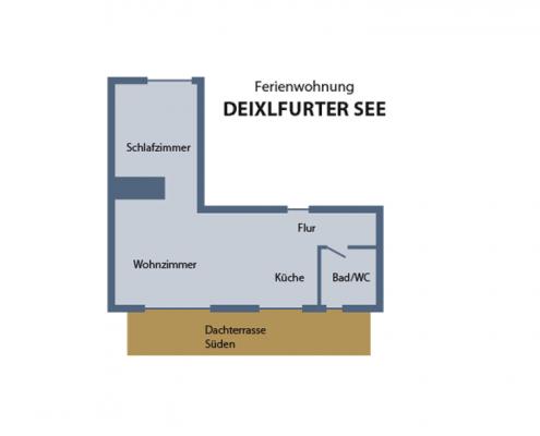 """Ferienwohnung """"Deixlfurter See"""" - Wohnungsaufteilung"""