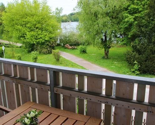 """Ferienwohnung """"Pilsensee"""" - Blick vom Balkon"""