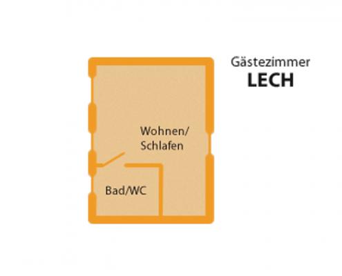 "Gästezimmer ""Lech"" - Zimmeraufteilung"