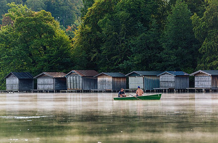 Angler auf dem Weßlinger See