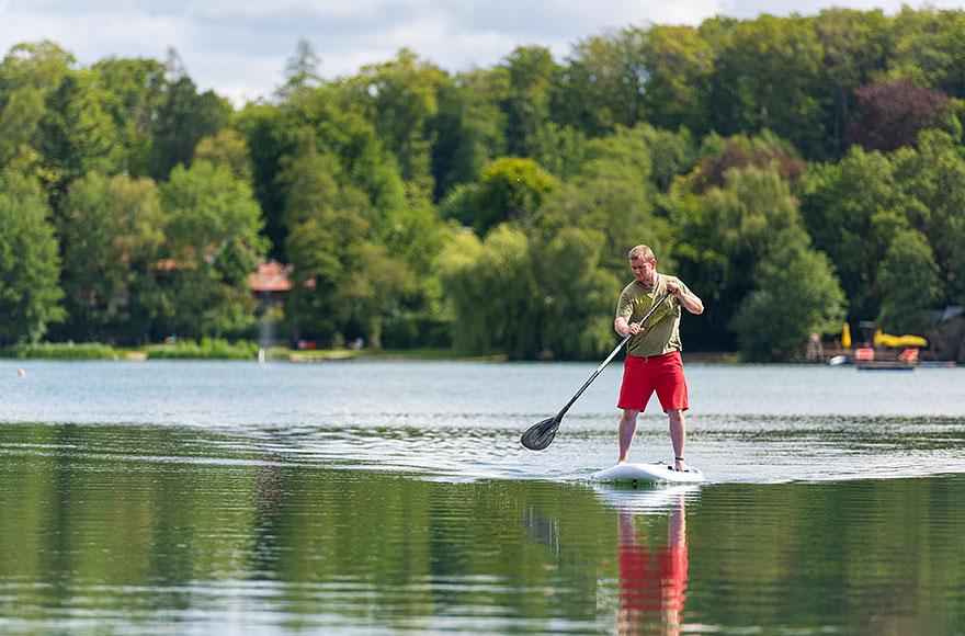 Stand up paddling auf dem Weßlinger See