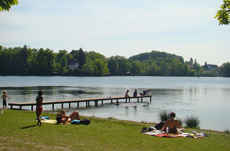 Impressionen vom Weßlinger See - Badewiese
