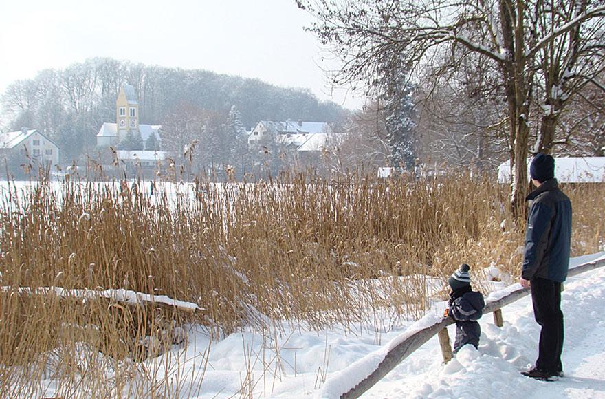 Impressionen vom Weßlinger See - Winterspaziergang im Schnee